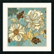 "Amanti Art Wild Apple ""Sophias Flowers I Blue"" Framed Print Art, 25"" x 25"""