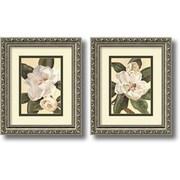 """Amanti Art Waltraud Fuchs Von Schwarzbek """"Magnolias"""" Framed Print Art Set, 11.91"""" x 9.91"""""""