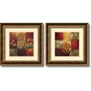 "Amanti Art Jill Deveraux ""Orchids"" Framed Print Art Set, 16.72"" x 16.72"""
