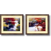 "Amanti Art Tadashi Asoma ""Water and Color"" Framed Print Art Set, 21.89"" x 17.89"""
