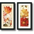 Amanti Art Lisa Audit in.Poesie Florale Panealin. Framed Print Art Set, 26in. x 14in.