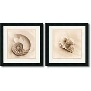 "Amanti Art Alan Blaustein ""Il Oceano"" Framed Print Art Set, 17.88"" x 17.88"""