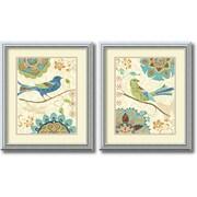 "Amanti Art Daphne Brissonnet ""Eastern Tale Birds"" Framed Animal Art Set, 19.99"" x 16.99"""