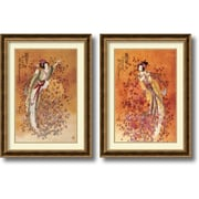 "Amanti Art Chinese ""Wealth and Prosperity"" Framed Art Set, 31.72"" x 23.72"""
