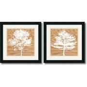 "Amanti Art Erin Clark ""Wood Silhouette"" Framed Art Set, 18"" x 18"""