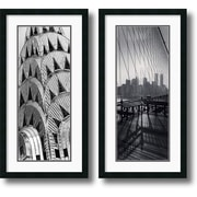 "Amanti Art Torsten Andreas Hoffman ""New York Panels"" Framed Print Art Set, 34"" x 17 1/2"""