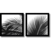 "Amanti Art Jamie Kingham ""Palm Details"" Framed Print Art Set, 12.74"" x 12.87"""