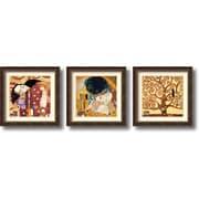 Amanti Art Gustav Klimt Fulfillment, Kiss and Tree Of Life Framed Print Art Set, 28.52 x 28.52