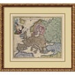 Amanti Art in.Map of Europein. Framed Print Art, 21.88in. x 24.12in.