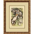 Amanti Art in.Cockatoo(Cacalua)in. Framed Print Art, 19.12in. x 15.12in.