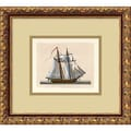 Amanti Art in.Full Sail(2 Masts)in. Framed Print Art, 12.62in. x 13.88in.