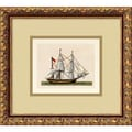 Amanti Art in.Full Sail(Union Jack)in. Framed Print Art, 12.62in. x 13.88in.