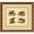 Amanti Art in.Equestrian Leapsin. Framed Print Art, 15.88in. x 17.88in.