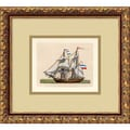 Amanti Art in.Full Sail(Netherlands 2 Mast)in. Framed Print Art, 12.62in. x 13.88in.