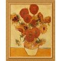 Amanti Art Vincent Van Gogh in.Sunflowers, 1888in. Framed Print Art, 33.62in. x 27.25in.
