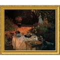 Amanti Art Claude Monet in.Luncheon in the Gardenin. Framed Art, 22.38in. x 27.12in.