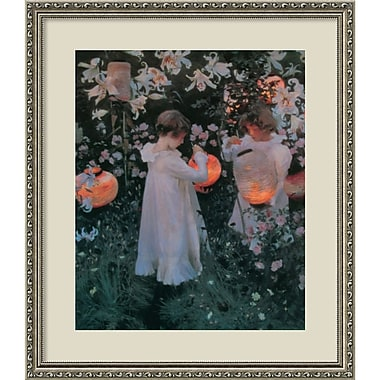 Amanti Art John Singer Sargent in.Carnation, Lily, Lily, Rose, c. 1886in. Framed Art, 25.38in. x 21.88in.