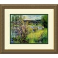 Amanti Art Pierre Auguste Renoir in.The Seine at Chatouin. Framed Print Art, 15.38in. x 18in.
