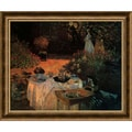 Amanti Art Claude Monet in.Luncheon in the Gardenin. Framed Art, 22 3/4in. x 27 1/2in.