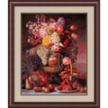 Amanti Art William Sharp in.Fruit and Flower Piece, 1848in. Framed Print Art, 35.38in. x 30in.