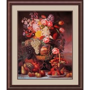 "Amanti Art William Sharp ""Fruit and Flower Piece, 1848"" Framed Print Art, 35.38"" x 30"""