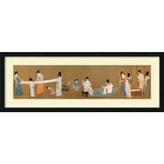 "Amanti Art Emperor Huizong ""Court Ladies Preparing Newly Woven Silk"" Framed Art, 16.25"" x 44.12"""