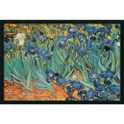 "Amanti Art Vincent Van Gogh ""Garden Of Irises"" Framed Print Art, 25.38"" x 37.38"""
