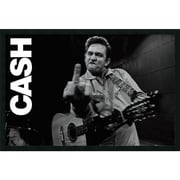 "Amanti Art ""Johnny Cash - Finger"" Framed Art, 25.38"" x 37.38"""