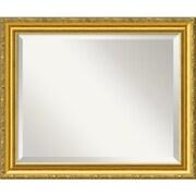 "Amanti Art 23.38"" x 19.38"" Colonial Medium Wall Mirror, Gold"