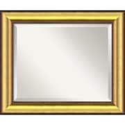 "Amanti Art 24.62"" x 20.62"" Vegas Medium Wall Mirror, Burnished Gold/Black"
