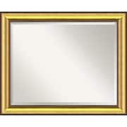 "Amanti Art 32.62"" x 26.62"" Vegas Large Wall Mirror, Burnished Gold/Black"