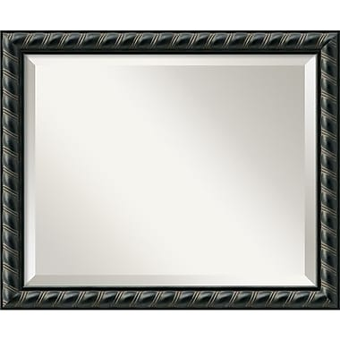 Amanti Art 22.62in. x 18.62in. Pequot Medium Wall Mirror, Black