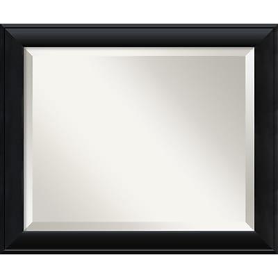 """""Amanti Art 23 1/2"""""""" x 19 1/2"""""""" Nero Medium Wall Mirror, Black"""""" 967205"