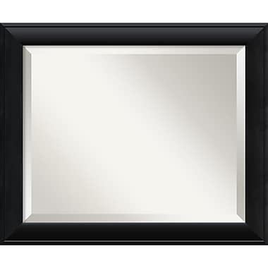 Amanti Art 23 1/2in. x 19 1/2in. Nero Medium Wall Mirror, Black