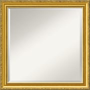 "Amanti Art 23.38"" x 23.38"" Colonial Square Wall Mirror, Gold"