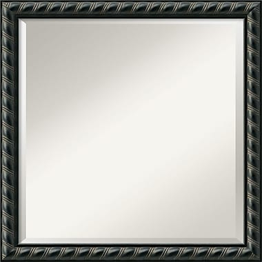 Amanti Art 22.62in. x 22.62in. Pequot Square Wall Mirror, Black
