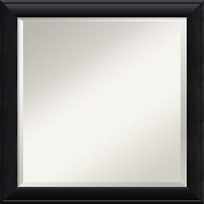 """""Amanti Art 23 1/2"""""""" x 23 1/2"""""""" Nero Square Wall Mirror, Black"""""" 967189"