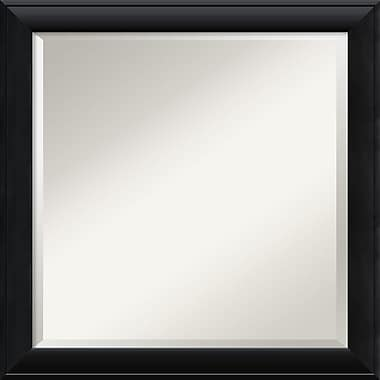 Amanti Art 23 1/2in. x 23 1/2in. Nero Square Wall Mirror, Black
