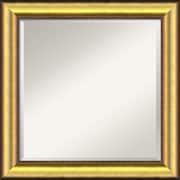 "Amanti Art 24.62"" x 24.62"" Vegas Square Wall Mirror, Burnished Gold/Black"