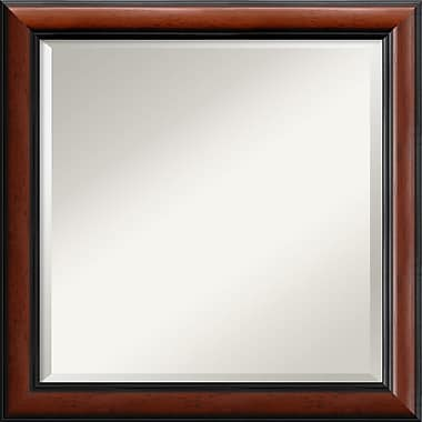 Amanti Art 24in. x 24in. Regency Square Wall Mirror, Black