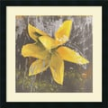 Amanti Art Erin Clark in.Tulip Fresco (Yellow)in. Framed Print Art, 22in. x 22in.