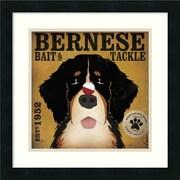 "Amanti Art Stephen Fowler ""Bernese Bait & Tackle"" Framed Animal Art, 18"" x 18"""
