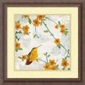 Amanti Art Tandi Venter in.Birds and Butterflies IIIin. Framed Print Art, 18 1/4in. x 18 1/4in.