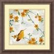 """Amanti Art Tandi Venter """"Birds and Butterflies III"""" Framed Print Art, 18 1/4"""" x 18 1/4"""""""