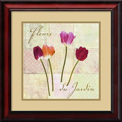 """""Amanti Art Remy Dellal """"""""Fleurs du Jardin (Garden Flowers)"""""""" Framed Print Art, 19"""""""" x 19"""""""""""""" 967513"