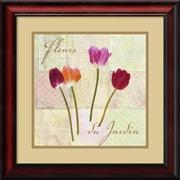 "Amanti Art Remy Dellal ""Fleurs du Jardin (Garden Flowers)"" Framed Print Art, 19"" x 19"""