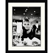 "Amanti Art ""Audrey Hepburn-Breakfast at Tiffany's"" Framed Art, 33.62"" x 26.62"""