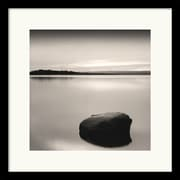 "Amanti Art Andrew Ren ""Solo Floating on Ottawa River, Study #2"" Framed Print Art, 17"" x 17"""