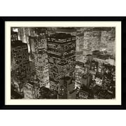 "Amanti Art Michael Kenna ""Mary Poppins over Midtown, NY 2006"" Framed Print Art, 31.62"" x 42.62"""