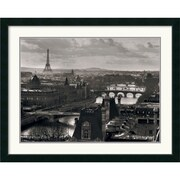 "Amanti Art ""Views of Paris - The River Seine"" Framed Print Art, 32.25"" x 40.12"""